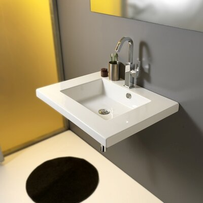 Mars Ceramic Bathroom Sink with Overflow - Art MAR01011