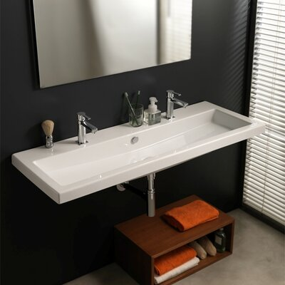 Cangas Ceramic Bathroom Sink with Overflow - Art CAN05011 120