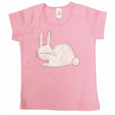 Bunny Cap Sleeve T Shirt in Pink
