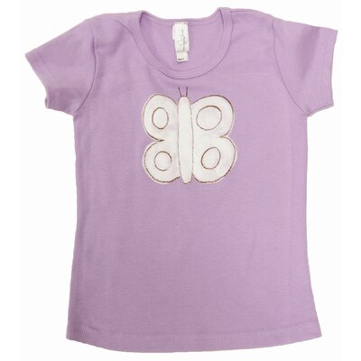 Butterfly Cap Sleeve T Shirt in Lavender