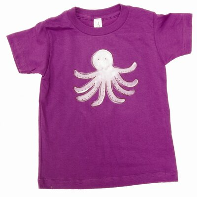 Alex Marshall Studios Octopus T Shirt in Purple