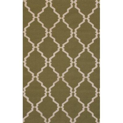 MevaRugs Flat Weave Green Rug