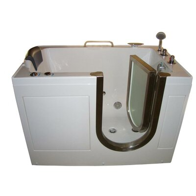 "Steam Planet Corp 52"" x 32"" Walk-In Tub with Inline Heater and Whirlpool Jets"