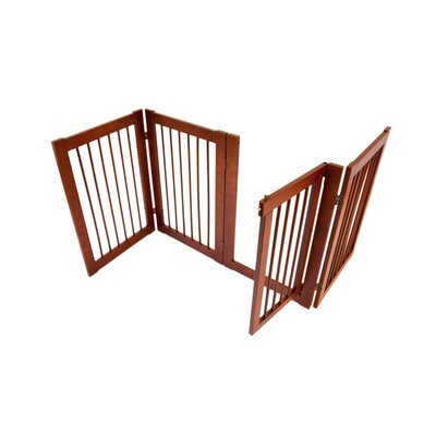 Primetime Petz Configurable 360 Z-Fold Pet Gate in Walnut