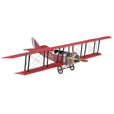 Authentic Models WWI Fighter Biplane Model in Red