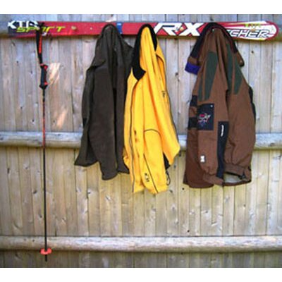 Ski Chair Snow Ski Coat Rack with Wooden Pegs