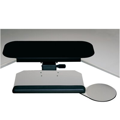 Humanscale Diagonal Keyboard Tray and Mouse Platform with Single Adjustable Arm