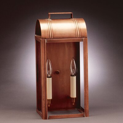 Northeast Lantern Livery 2 Candelabra Sockets Large Culvert Top Wall Lantern