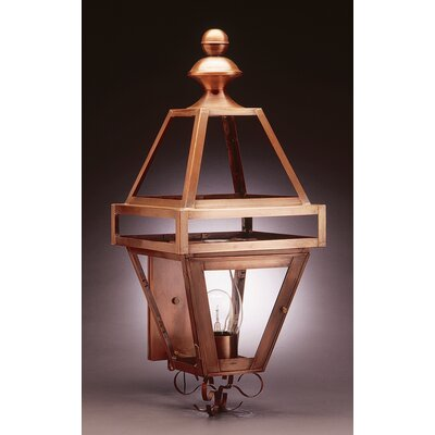 Northeast Lantern Boston Medium Base Socket with Chimney Wall Lantern