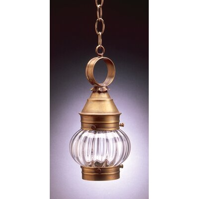 Northeast Lantern Onion Medium Base Socket No Cage 1 Light Hanging Lantern