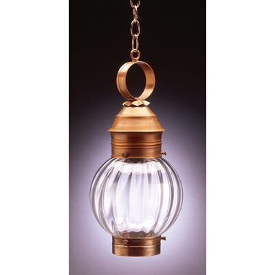 Northeast Lantern Onion Medium Base Socket No Cage Round 1 Light Hanging Lantern