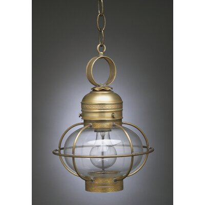 Northeast Lantern Onion Medium Base Socket Small Cage 1 Light Hanging Lantern