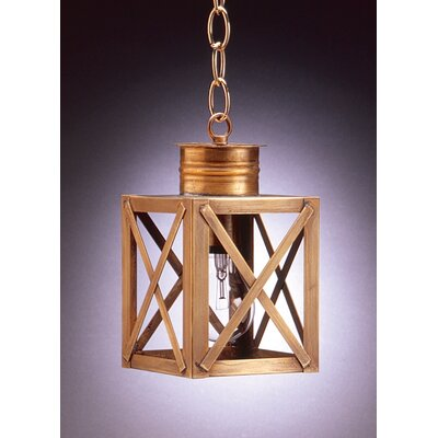 Northeast Lantern Suffolk Medium Base Sockets Can Top X-Bars 1 Light Hanging Lantern