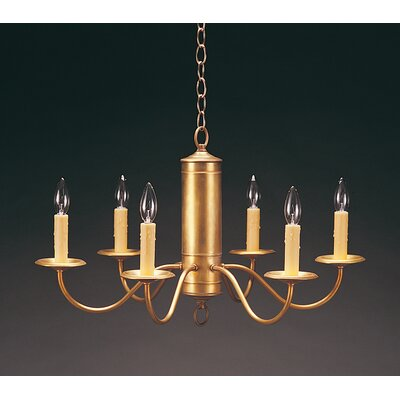 Northeast Lantern Chandelier 6 Light Candelabra Socket Hanging Cylinder J-Arms Chandelier