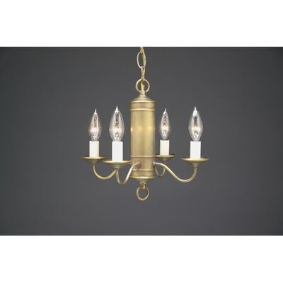 Northeast Lantern Chandelier 4 Light Candelabra Sockets Hanging Cylinder J-Arms Chandelier with Eggshell Shade
