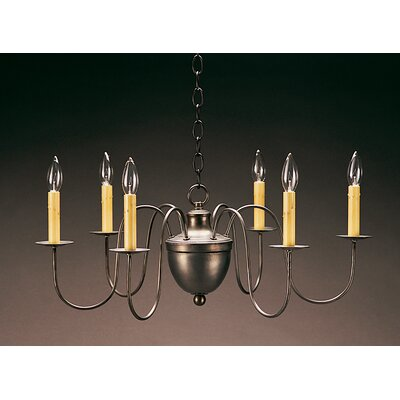 Northeast Lantern Chandelier 6 Light Candelabra Sockets Hanging Half Ball S-Arms Chandelier