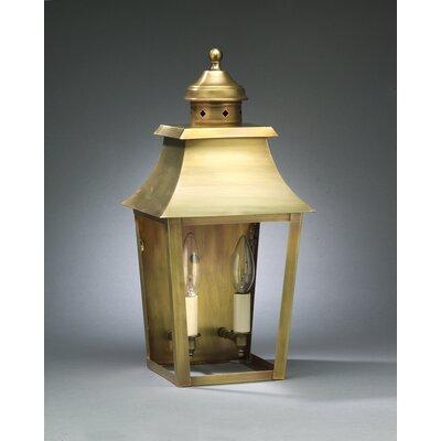 Northeast Lantern Sharon Medium Base Socket with Chimney Pagoda Wall Lantern
