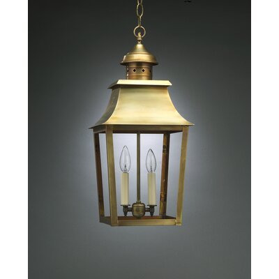 Northeast Lantern Sharon Two Candelabra Sockets Pagoda Hanging Lantern