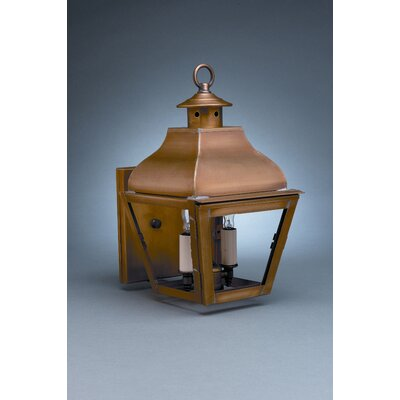 Northeast Lantern Stanfield 2 Candelabra Sockets Curved Top Wall Lantern