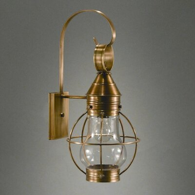 Northeast Lantern Onion Medium Base Socket Caged Pear Wall Lantern
