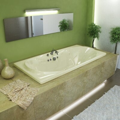 "Spa Escapes Cayman 72"" x 23"" Rectangular Air Tub"