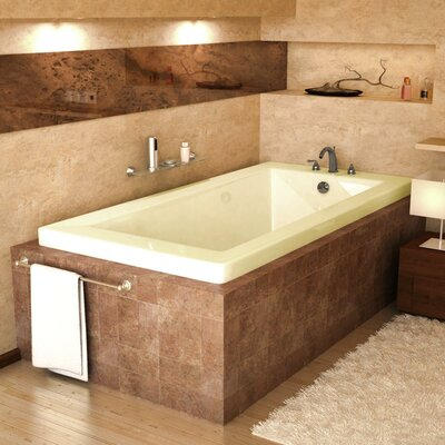 "Spa Escapes Guadeloupe 72"" x 23"" Rectangular Bathtub"