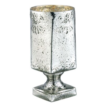 Glass Mercury Vase with Square Foot