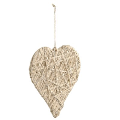 Barreveld International Woven and Pearled Wire Heart Ornament