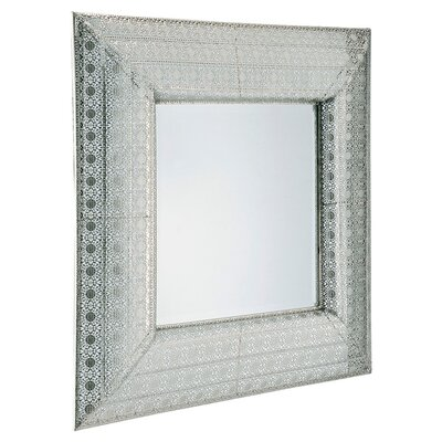 "Barreveld International Lace 28.3"" H x 28.3"" W Wall Mirror"
