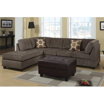 contemporary sectional sofa with wood back