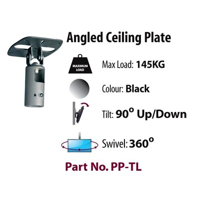 "Premier Mounts Cathedral Ceiling Adapter for Studs under 5 1/2"" Wide"