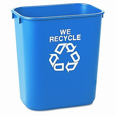 Rubbermaid Commercial Products 13.63 Qt. Recycling Waste Basket