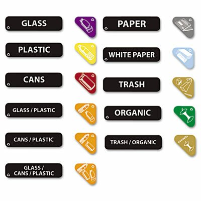 Rubbermaid Commercial Products Recycle Label Kit