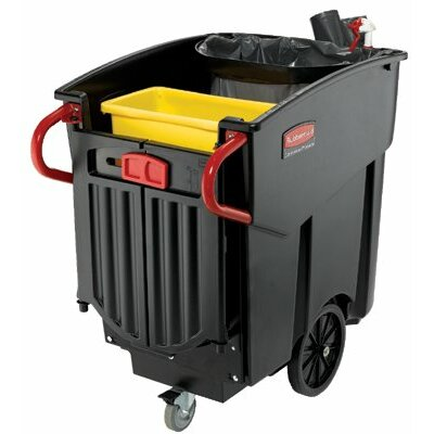 Rubbermaid Commercial Products Mega Brute® Mobile Waste Collectors - black 120 gallon capacity mega brute waste colle