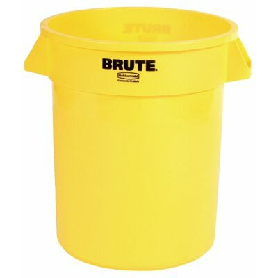 Rubbermaid Commercial Products Brute® Round Containers - 32gal w/o lid brute container trash can yellow