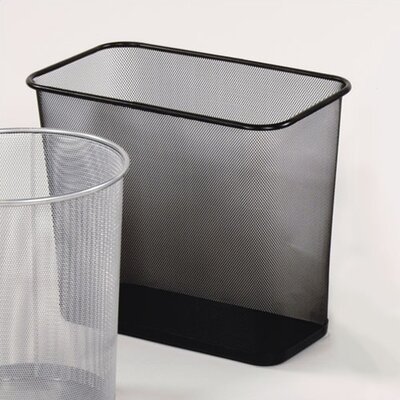 Rubbermaid Commercial Products Garbage Receptacle - Rectangular Black Mesh Wastebasket