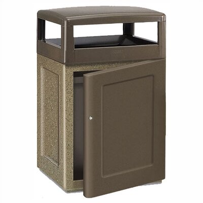 Rubbermaid Commercial Products Keystone 48 Gal. Concrete Front Door Waste Receptacle