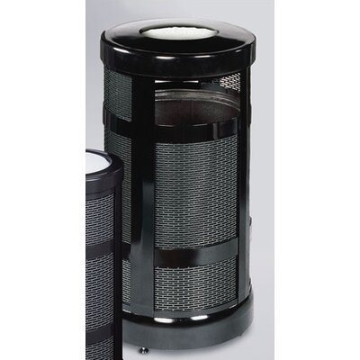 Rubbermaid Commercial Products Architek 17 Gallon Radius Ash Urn Trash Receptacle