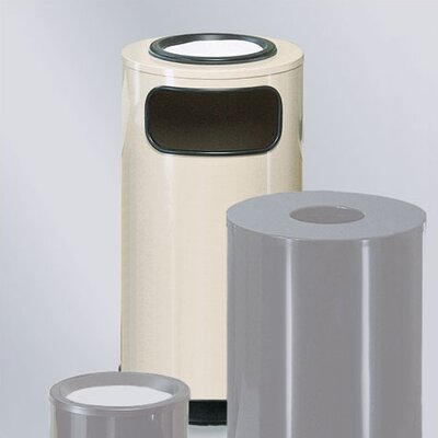 Rubbermaid Commercial Products Large Steel Sand Top Ash/Trash Receptacle