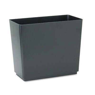 Rubbermaid Commercial Products Designer 2 Wastebasket in Black