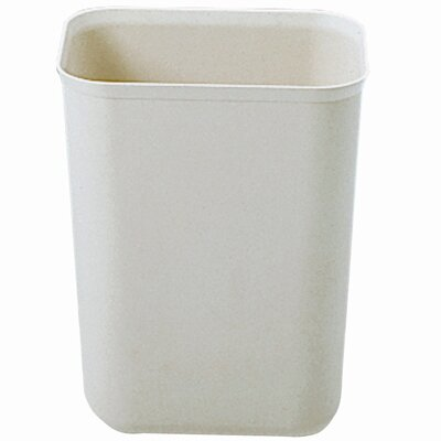 Rubbermaid Commercial Products 1.75-Gallon Fire-Resistant Fiberglass Wastebasket in Beige