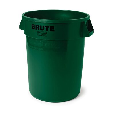 Rubbermaid Commercial Products 44-Gallon Round Brute Container in Dark Green