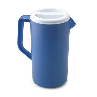 Rubbermaid Commercial Products Plastic Three-Way-Lid Pitcher in Blue