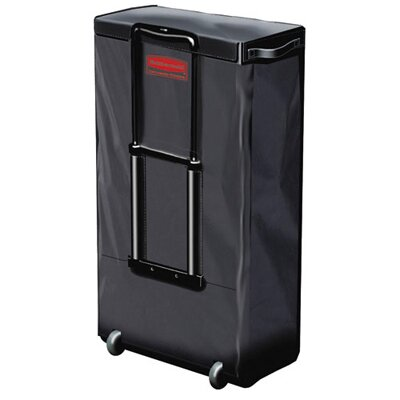 Rubbermaid Commercial Products Mobile Fabric Cleaning Cart Bag in Black