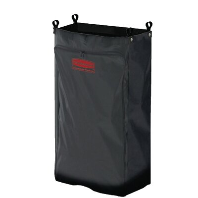Rubbermaid Commercial Products Heavy-Duty Fabric Cleaning Cart Bag in Black
