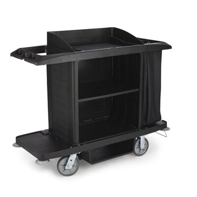 Rubbermaid Commercial Products Full-Size Housekeeping Cart with 3 Shelves