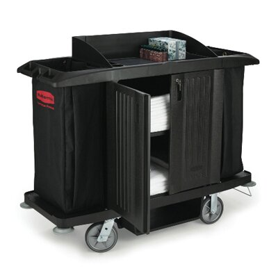 "Rubbermaid Commercial Products 49"" Multi-Shelf Cleaning Cart"