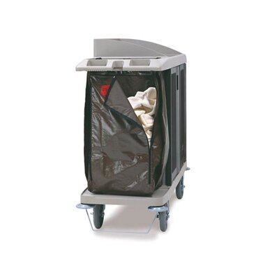 Rubbermaid Commercial Products Zippered Vinyl Cleaning Cart Bag in Brown
