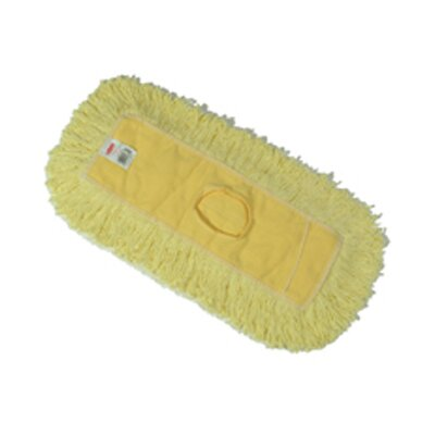 Rubbermaid Commercial Products Trapper Commercial Dust Mop with Looped-end in Yellow