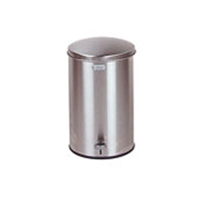 Rubbermaid Commercial Products 3.5 Gallon Defenders Biohazard Step Can in Stainless Steel